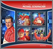 MALDIVES 2019 MNH Michael Schumacher Car Racing Autorennen Formule 1 M/S - OFFICIAL ISSUE - DH1942 - Cars