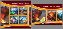 MALDIVES 2019 MNH Minerals Mineralien Mineraux Volcanoes M/S+S/S - OFFICIAL ISSUE - DH1942 - Minerali