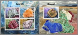 SIERRA LEONE 2019 MNH Minerals Mineralien Mineraux M/S+S/S - OFFICIAL ISSUE - DH1942 - Minerali