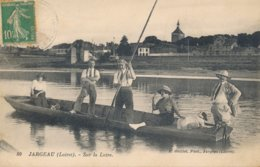 Jargeau (45 - Loiret) Sur La Loire - La Pêche En Barque - édit Guillot N° 80 Circulée - Jargeau