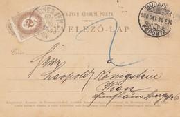 Ungarn: 1900: Ganzsache Budapest Nach Wien - Hongrie