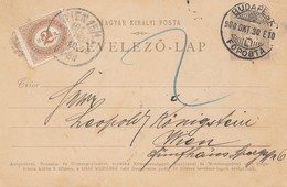 Ungarn: 1900: Ganzsache Budapest Nach Wien - Hungary