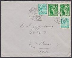 SCHOENE MISCHFRANKATUR GLEICHER WERTSUFEN - BUELACH - THUN BRIEF 1936 - Svizzera