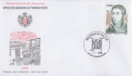 Enveloppe  FDC   1er  Jour   MONACO   André   MASSENA   Maréchal  D' Empire    2008 - FDC