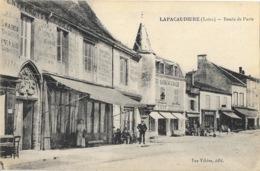 Lapacaudière (La Pacaudière, Loire) Route De Paris, Hôtel Du Commerce - Edition Vve Vibère - La Pacaudiere
