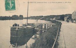 La Frette (95 - Val D'Oise) Le Port Au Plâtre - Une Péniche - édit Foissotte N° 51 - La Frette-sur-Seine