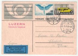 Suisse // Schweiz // Switzerland //  Entier Postaux // Entier Postal, Poste Automobile (Luzern Concours Hippique) - Postwaardestukken