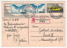 Suisse // Schweiz // Switzerland //  Entier Postaux // Entier Postal Recommandé Pour Zurich - Ganzsachen