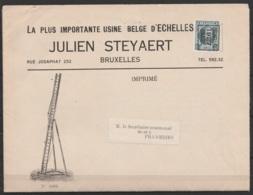 Dépliant Publicitaire Imprimé (Echelles) Affr. PREO 5c [BRUXELLES/1927/BRUSSEL] Pour FRAMERIES - Vorfrankiert