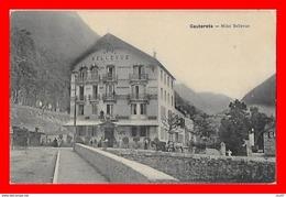 CPA (65) CAUTERETS.  Hôtel Bellevue, Animé, Attelage...S1488 - Cauterets