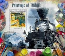 Maldives 2017 Paintings Of Trains - Maldives (1965-...)