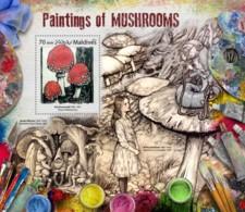 Maldives 2017 Paintings  Of Mushrooms - Maldives (1965-...)