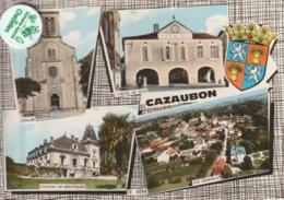 32 - Très Belle Carte Postale Semi Moderne Dentelée De   CAZAUBON  Multi Vues - Other Municipalities