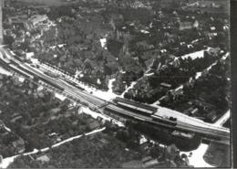 ! Schorndorf, Bahnhof, Gleisanlagen, Baden-Württemberg, Seltenes Luftbild, Moderner Abzug, Nr.758, Format 18 X 13 Cm - Gares - Avec Trains