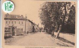 32 - Très Belle Carte Postale Ancienne De CASTELNAU D'AUZAN    L'Avenue D'Eauze - Autres Communes