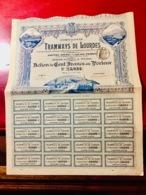 COMPAGNIE  Des  TRAMWAYS   De  LOURDES   -------Action  De  100 Frs - Railway & Tramway