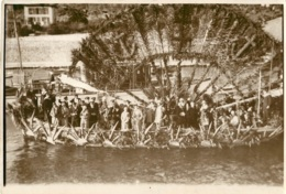 GRANDE PHOTO ORIGINALE VILLEFRANCHE SUR MER COMBAT NAVAL FLEURI  23 X 16 CM - Places