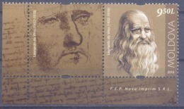 2019. Moldova,  Leonardo Da Vinci, People Who Changed The History Of The World, 1v With Label, Mint/** - Moldavia