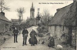 BODILIS ( 29 ) L'entrée D'un Village Breton ( Petite Animation ) - Frankreich