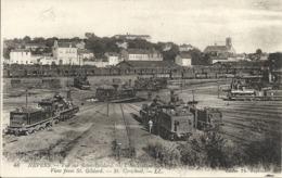 NEVERS ( 58 ) - Vue Sur Saint Gildard -  L'institution Saint Cyr ( Trains à Vapeur - Locomotives ) - Nevers