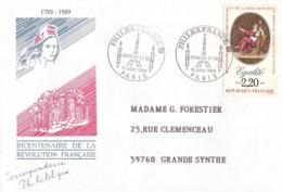 France, Enveloppe, Cachet Philexfrance 16 Juillet 1989, Thème Jeunesse Et BD, Timbre Egalité - Franz. Revolution