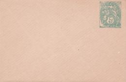 Enveloppe Blanc 5c Vert  E3 Neuve - Enveloppes Types Et TSC (avant 1995)