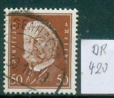 DR 1928  MiNr.  420     O / Used  (L856) - Allemagne