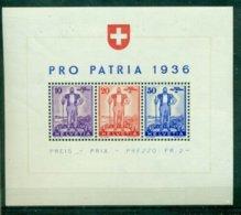 Schweiz, Pro Patria 1936, Block 2 Postfrisch ** - Schweiz