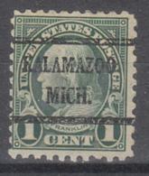 USA Precancel Vorausentwertung Preo, Bureau Michigan, Kalamazoo 581-43 - Preobliterati