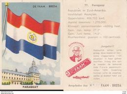 CHROMOS. Confiserie à La Menthe Poivrée. DE FAAM (Breda).  Les Drapeaux N°77.  Paraguay. ..D625 - Confectionery & Biscuits