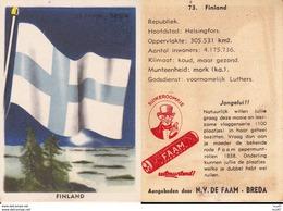 CHROMOS. Confiserie à La Menthe Poivrée. DE FAAM (Breda).  Les Drapeaux N°73.  Finland. ..D623 - Confiserie & Biscuits