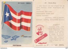 CHROMOS. Confiserie à La Menthe Poivrée. DE FAAM (Breda).  Les Drapeaux N°67.  Dominicaanse Républiek. ..D622 - Confiserie & Biscuits