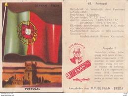 CHROMOS. Confiserie à La Menthe Poivrée. DE FAAM (Breda).  Les Drapeaux N°63.  Portugal. ..D620 - Confetteria & Biscotti