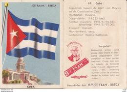 CHROMOS. Confiserie à La Menthe Poivrée. DE FAAM (Breda).  Les Drapeaux N°62.  Cuba. ..D619 - Confiserie & Biscuits
