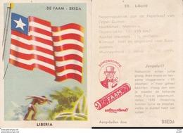 CHROMOS. Confiserie à La Menthe Poivrée. DE FAAM (Breda).  Les Drapeaux N°59.  Liberia. ..D618 - Confiserie & Biscuits