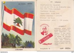 CHROMOS. Confiserie à La Menthe Poivrée. DE FAAM (Breda).  Les Drapeaux N°57.  Libanon. ..D616 - Confiserie & Biscuits