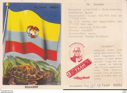 CHROMOS. Confiserie à La Menthe Poivrée. DE FAAM (Breda).  Les Drapeaux N°56.  Ecuador. ..D615 - Confiserie & Biscuits