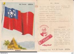 CHROMOS. Confiserie à La Menthe Poivrée. DE FAAM (Breda).  Les Drapeaux N°55.  Birma. ..D614 - Confectionery & Biscuits