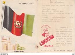 CHROMOS. Confiserie à La Menthe Poivrée. DE FAAM (Breda).  Les Drapeaux N°53.  Afghanistan. ..D613 - Confiserie & Biscuits