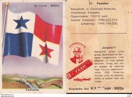 CHROMOS. Confiserie à La Menthe Poivrée. DE FAAM (Breda).  Les Drapeaux N°51.  Panama. ..D612 - Confectionery & Biscuits