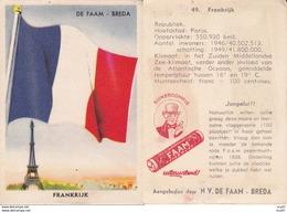 CHROMOS. Confiserie à La Menthe Poivrée. DE FAAM (Breda).  Les Drapeaux N°49.  France. ..D611 - Confiserie & Biscuits