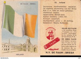 CHROMOS. Confiserie à La Menthe Poivrée. DE FAAM (Breda).  Les Drapeaux N°32.  Ireland. ..D609 - Confiserie & Biscuits