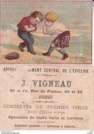 CHROMOS. Approvisionnement Central De L'épicerie. J. VIGNEAU (Bordeaux).  Boxe En Ecosse. ..D276 - Cromos