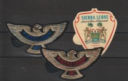 Sierra Leone 1967 Aigle Et Diamants PA 56-58 3 Val Neuf ** MNH - Sierra Leona (1961-...)