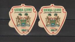 Sierra Leone 1967 Armoiries PA 59-60 2 Val Neuf ** MNH - Sierra Leone (1961-...)