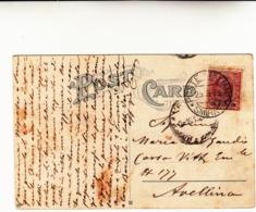 Smirne Per Avellino, Uffici Postali Italiani, Smirne 20 Para Su Francobollo Regno 10 Cent. 1913 - Bureaux D'Europe & D'Asie