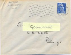 LAVAUR TARN OMec SECAP FG 5.L.O. M Du 14-2-1955 - Postmark Collection (Covers)