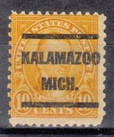 USA Precancel Vorausentwertung Preo, Locals Michigan, Kalamazoo 642-L-1 E - Preobliterati
