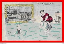 CPA  OSTENDE (Belgique)   Le Baptème De L'eau, Waterdoop. Illustrateur H.M.....CO1286 - Oostende