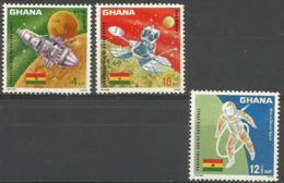 Ghana - 1967 Space Achievenents MNH **    SG 479-81   Sc 305-7 - Ghana (1957-...)